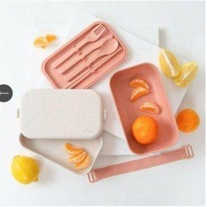 NIB Our Place Lunchbox BPA Free with Utensils